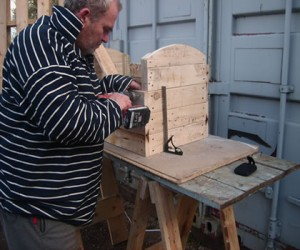 Paul making a sea chest