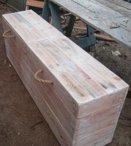 Wooden boot trunk