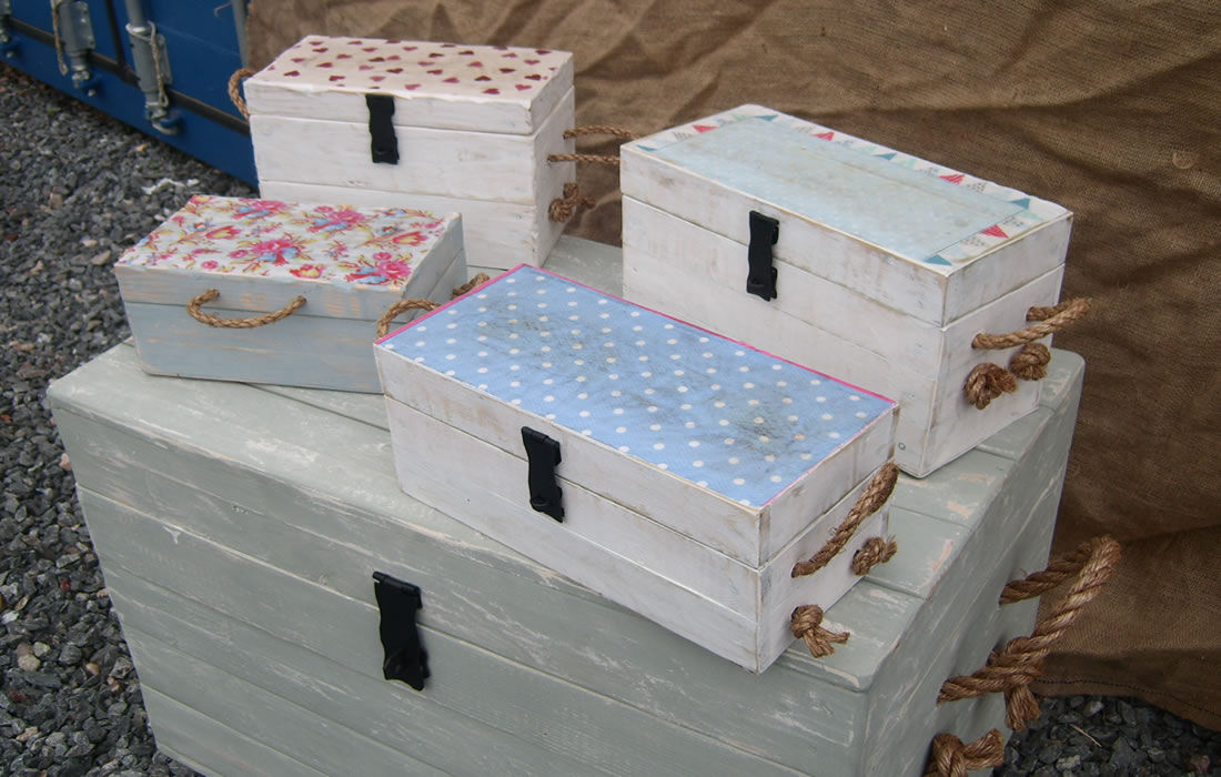 four memory boxes