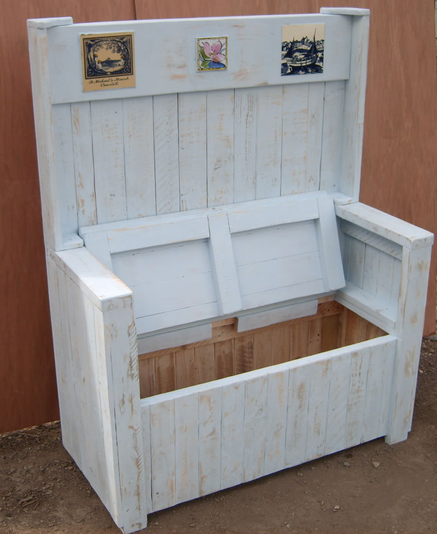 bench seat open showing storage