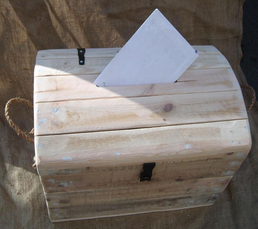 wooden wedding trunk